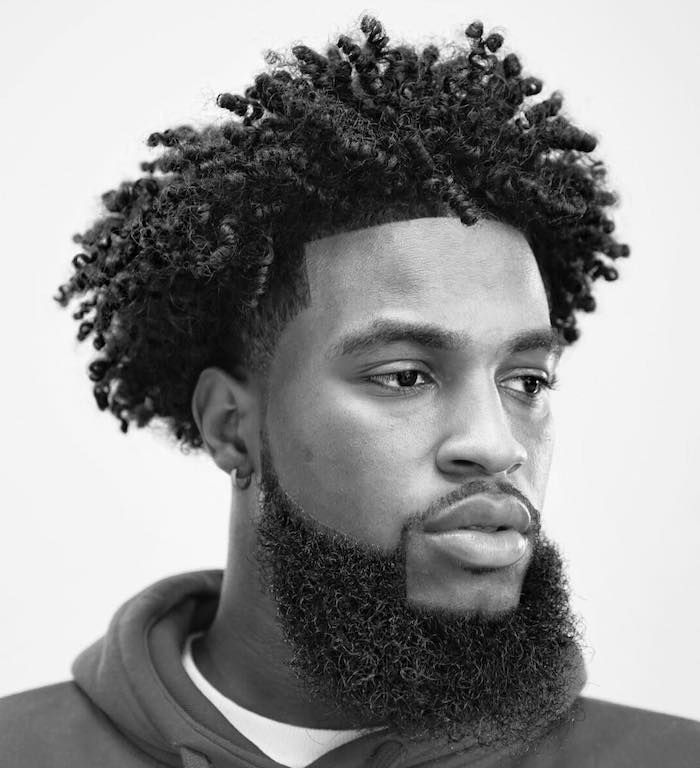 Black Curly Hair Black And White Photo Hair Styles For Men White Background Afro Hairstyles Men Short Hair Twist Styles Black Curly Hair