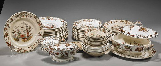 antique dinnerware sets | Set of Antique English Porcelain Dinnerware & Set of Antique English Porcelain Dinnerware on | Porcelain ...
