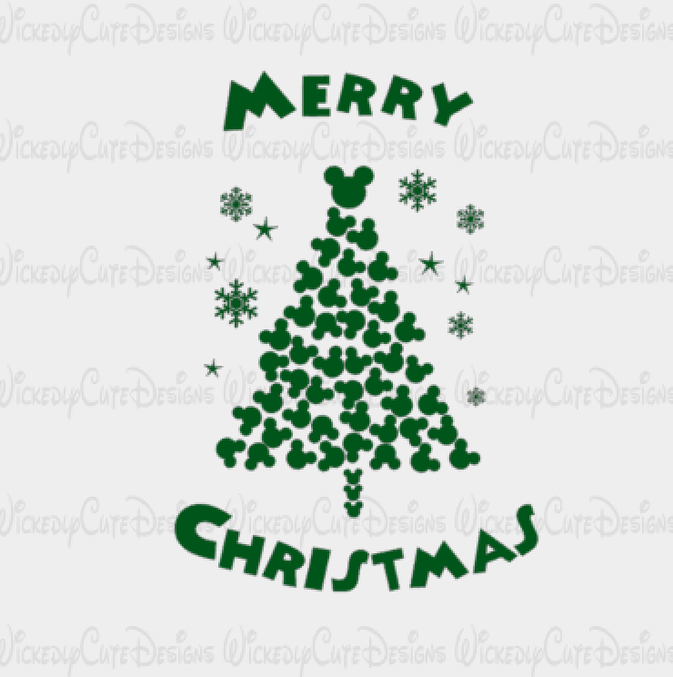 Mickey Mouse Christmas Tree Svg Dxf Eps Png Digital File Mickey Mouse Christmas Tree Mickey Mouse Christmas Disney Christmas Shirts