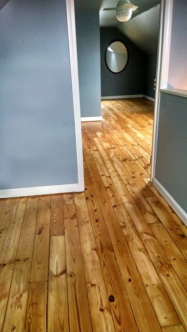 Refinished Old Pine Floors In Attic Bedroom 37th Pinterest