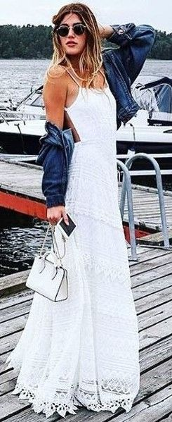 #summer #lovely #outfits    Maxi White Dress
