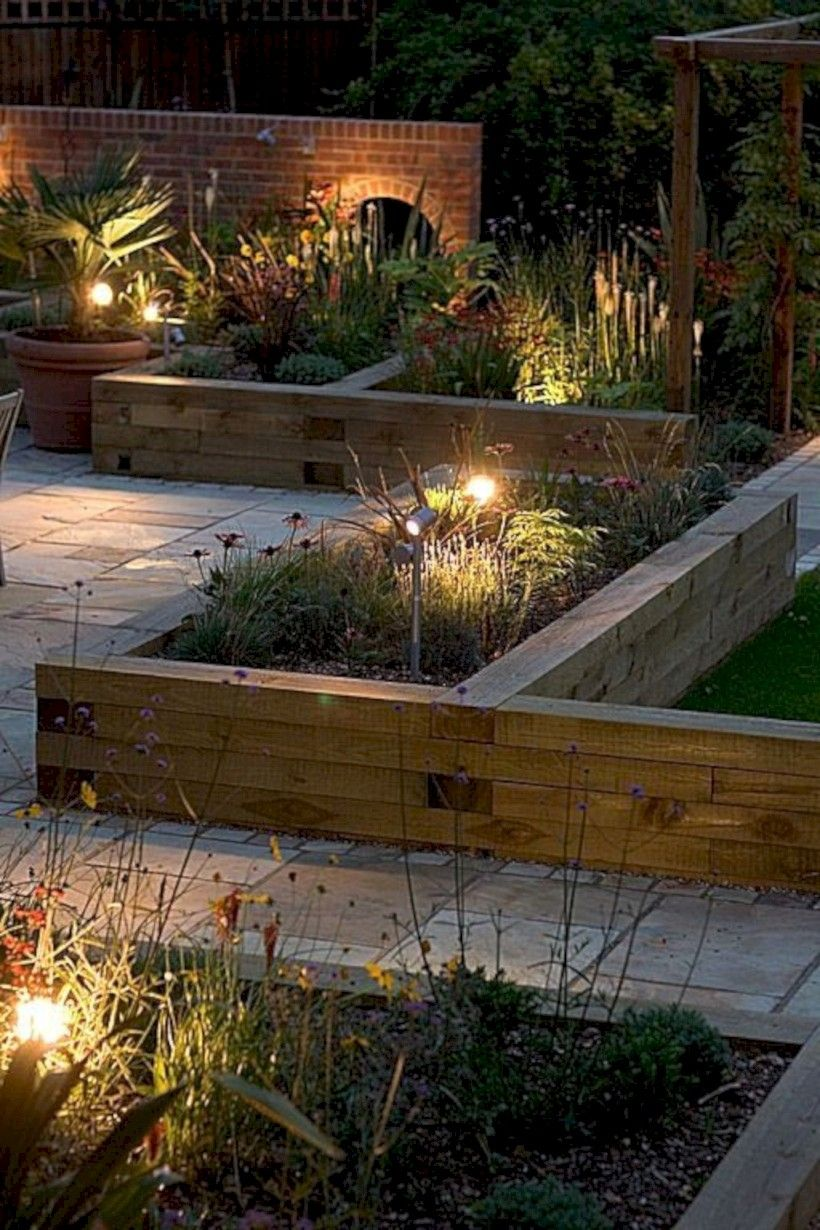 15 Lovely Raised Vegetables Garden Ideas Matchness Com Country Garden Landscaping Garden Bed Layout Patio Garden