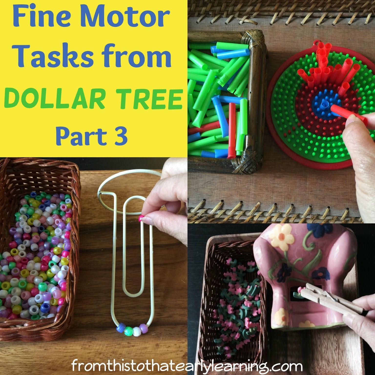 Fine Motor Tasks From Dollar Tree Part 3 Preschool Fine Motor Skills Preschool Fine Motor Activities Preschool Fine Motor
