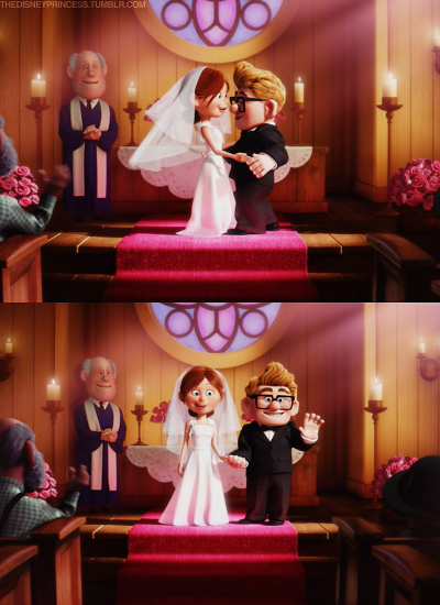 The Disney Princess Disney Pixar Up Wedding Movies Disney Up