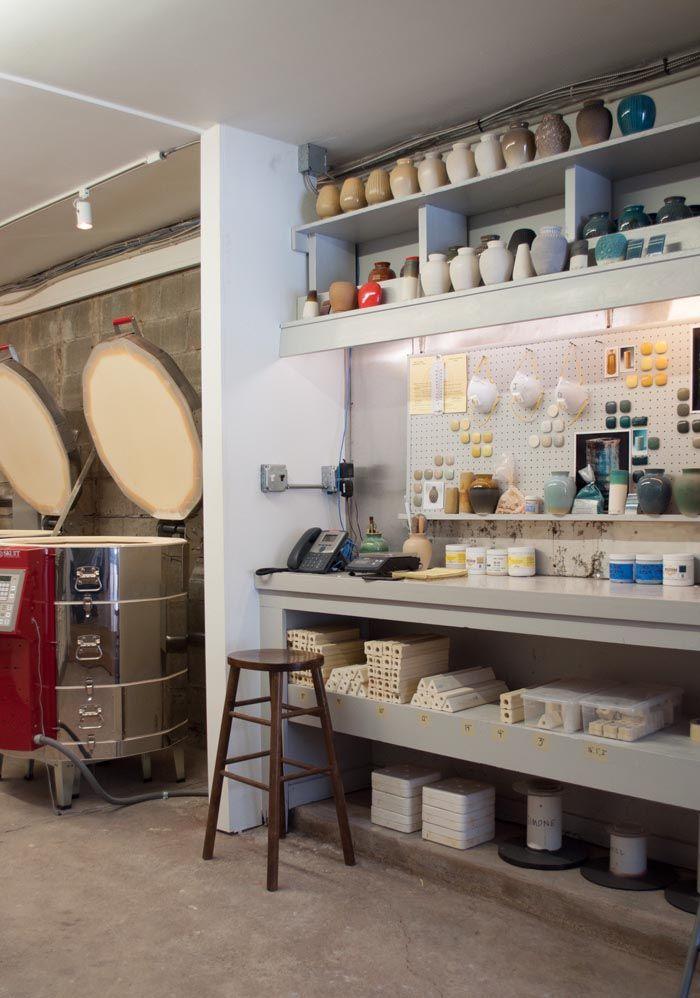 Studio Tour Stone And Sawyer Design Sponge Art Studio Design Workspace Design Pottery Studio
