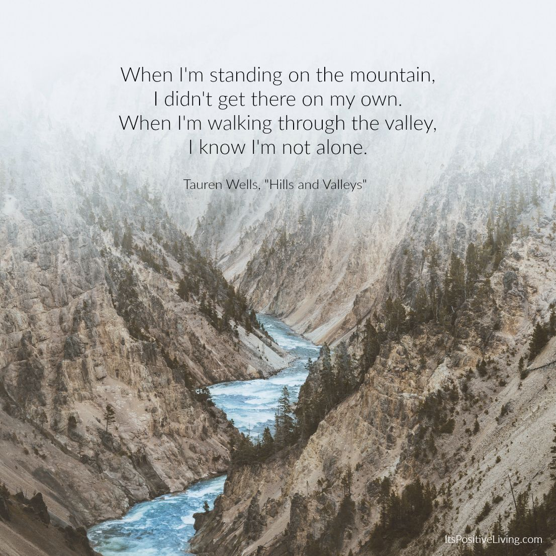 Image result for god will help us through the hills and valleys