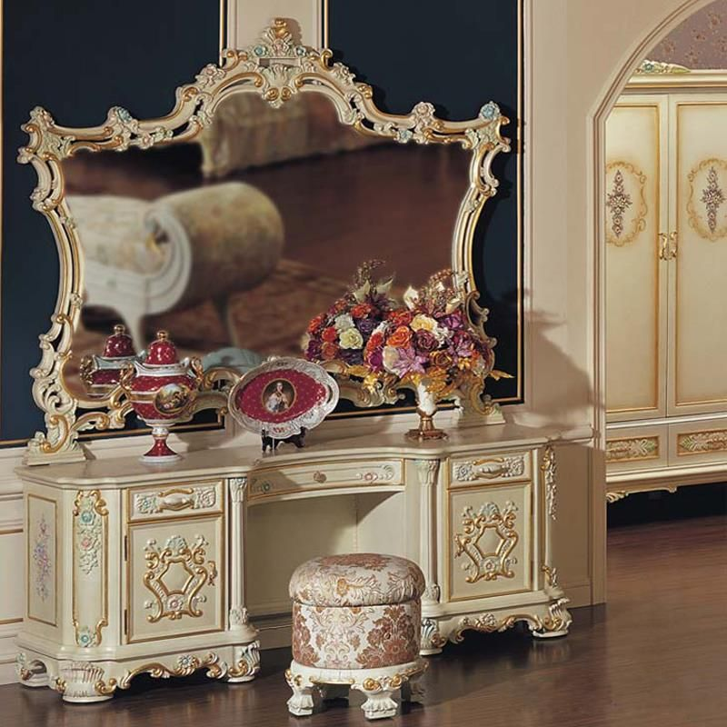 Baroque Luxury Makeup Mirror Dressing Table Mirror