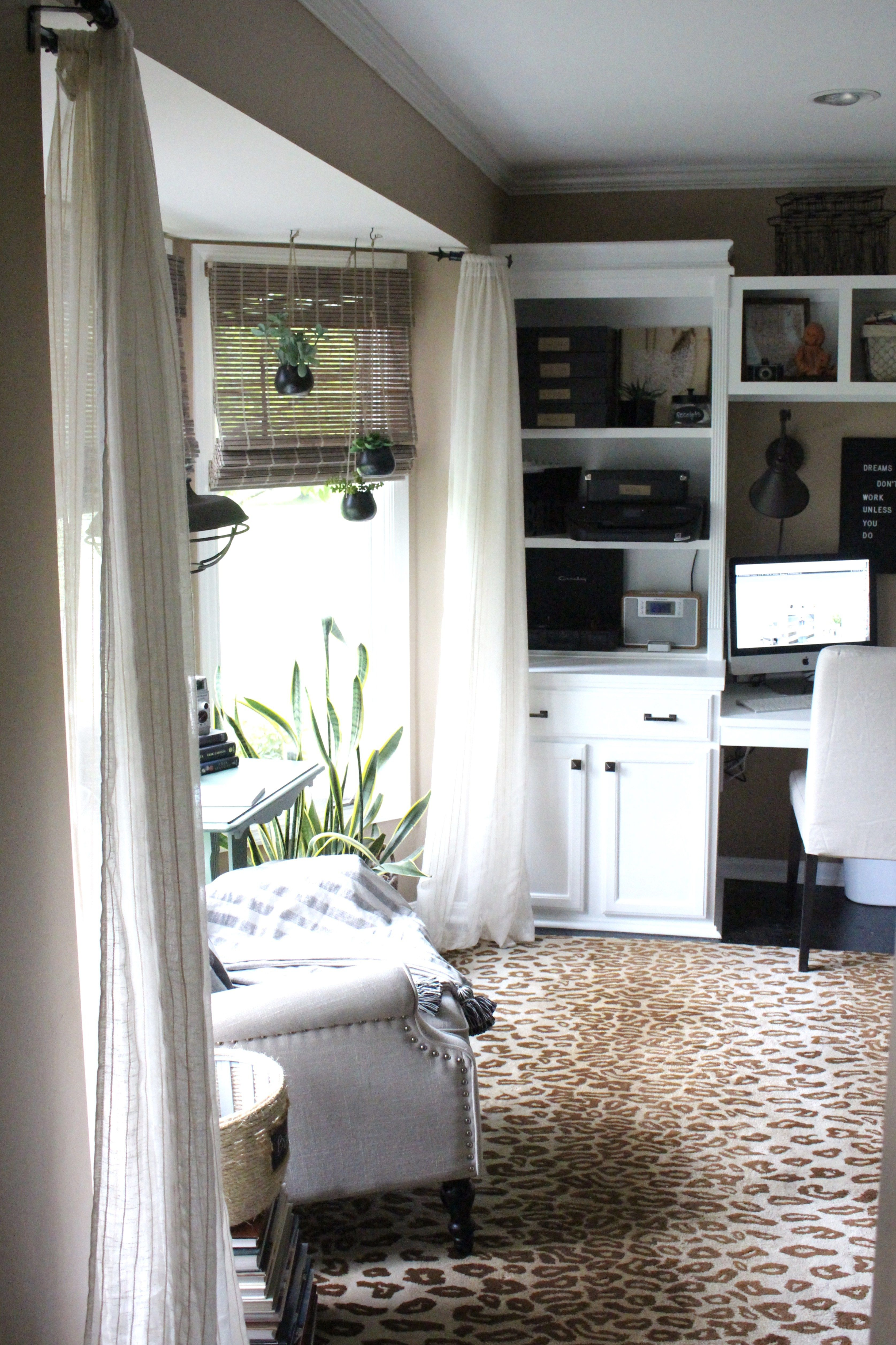 Home Office Craft Room Reveal Space Supply Storage Ideas One Challenge Renovation Tour Makeover