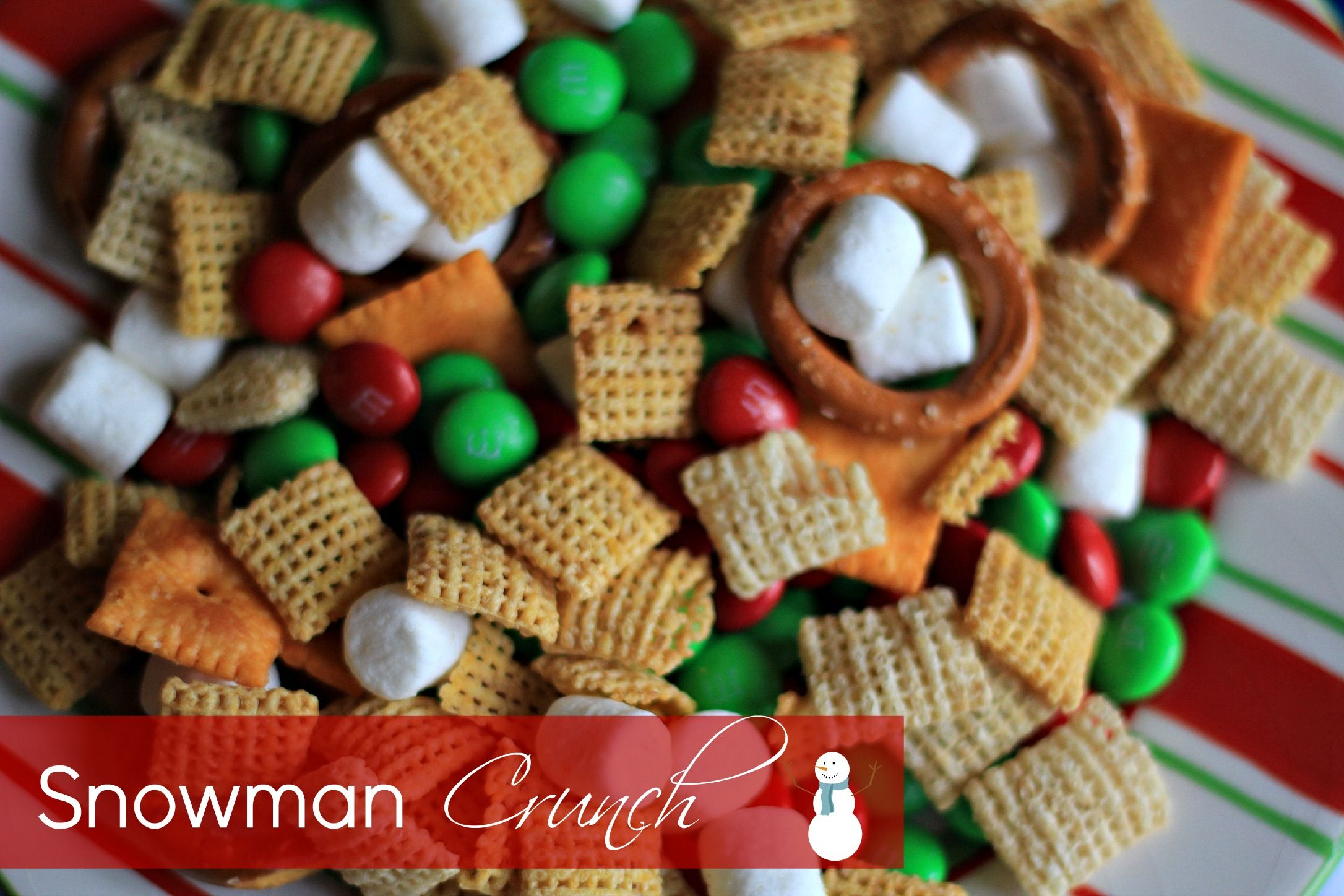25 Days of Christmas Fun: Fun Party Mix {Snowman Crunch} | Kasey Trenum