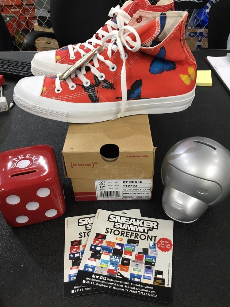 2eaf45f23472ba Converse x Damien Hirst All Star EU 44 US 10.5 Butterfly Limited Edition Red   Converse  AthleticSneakers