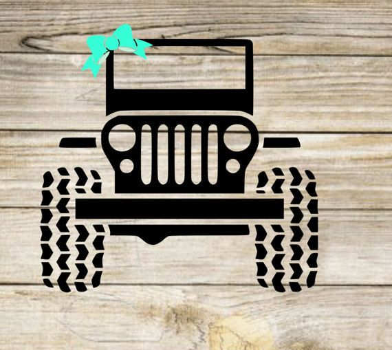 Girly Jeep Decal With Bow Preppy Jeep Sticker Preppy Vehicle