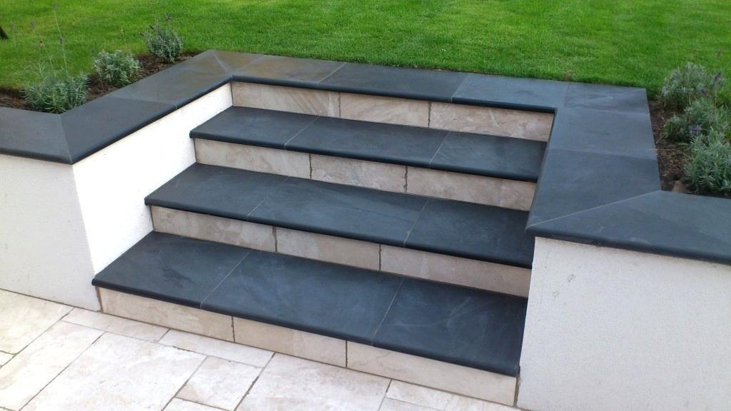 2 Tone Steps Patio Steps Outdoor Gardens Design Garden Architecture