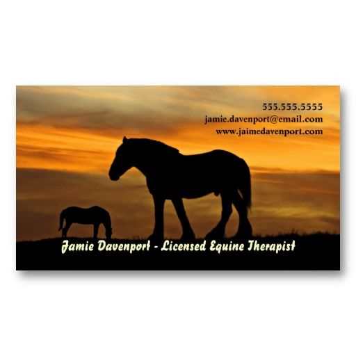 Silhouette of horses at sunset equine therapist business card silhouette of horses at sunset equine therapist business card colourmoves
