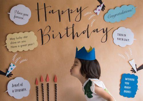 New 簡単 横を向くだけでお誕生日感がぐっとプラス おうち写真館 Party こども誕生日撮影 部屋飾り付けグッズ おうち写真館なら グラこころ バースデー バースデーカード 誕生日 写真