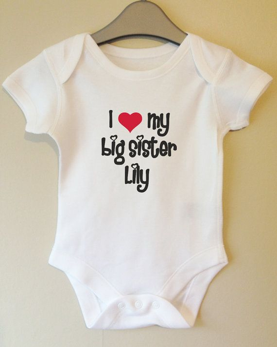 I Love My Nanny Baby Grow with Heart Hand Print Vest Bodysuit Body Suit Gift