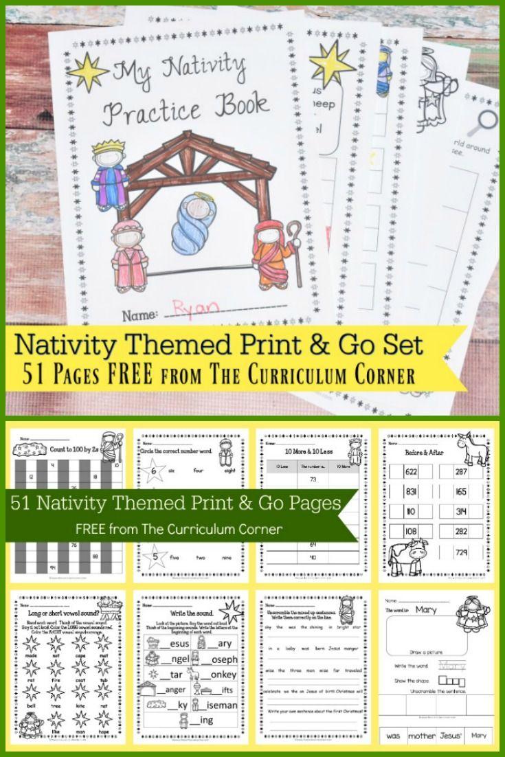 Nativity Print & Go Set | Pinterest