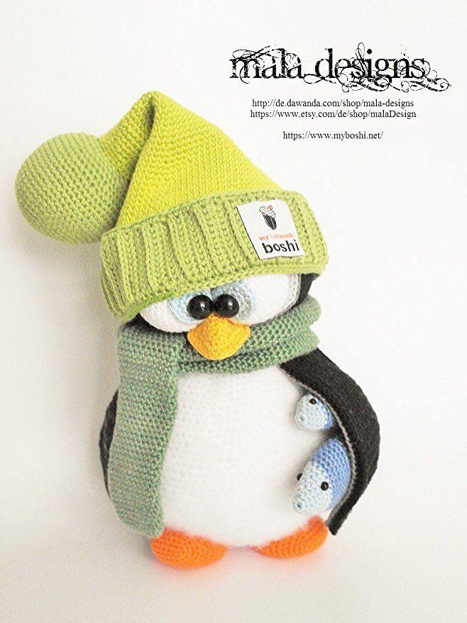 Myboshi Amigurumi Häkelset Xl Pinguine Mit Wintermützen Häkeln
