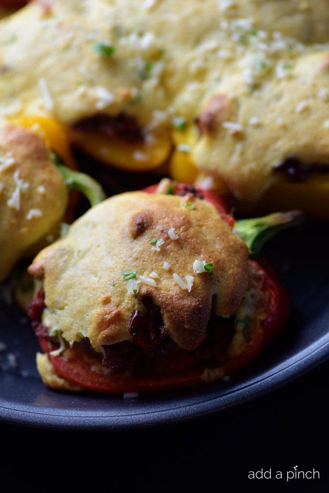 Stuffed Peppers with Cheesy Cornbread Crust Recipe