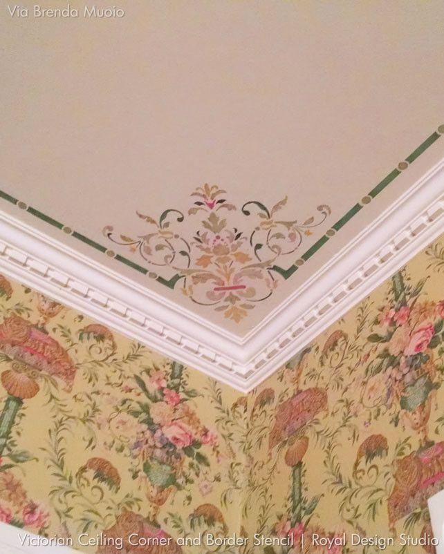 Victorian Roses Wallpaper Border Dining Room Victorian Victorian Wallpaper Victorian Decor