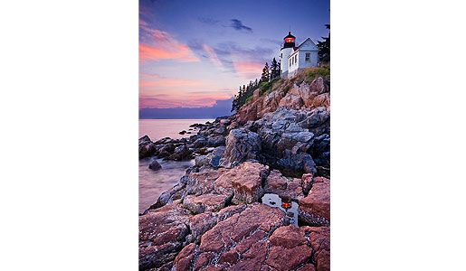 Bass Harbor Head Light House Acadia National Park Maine