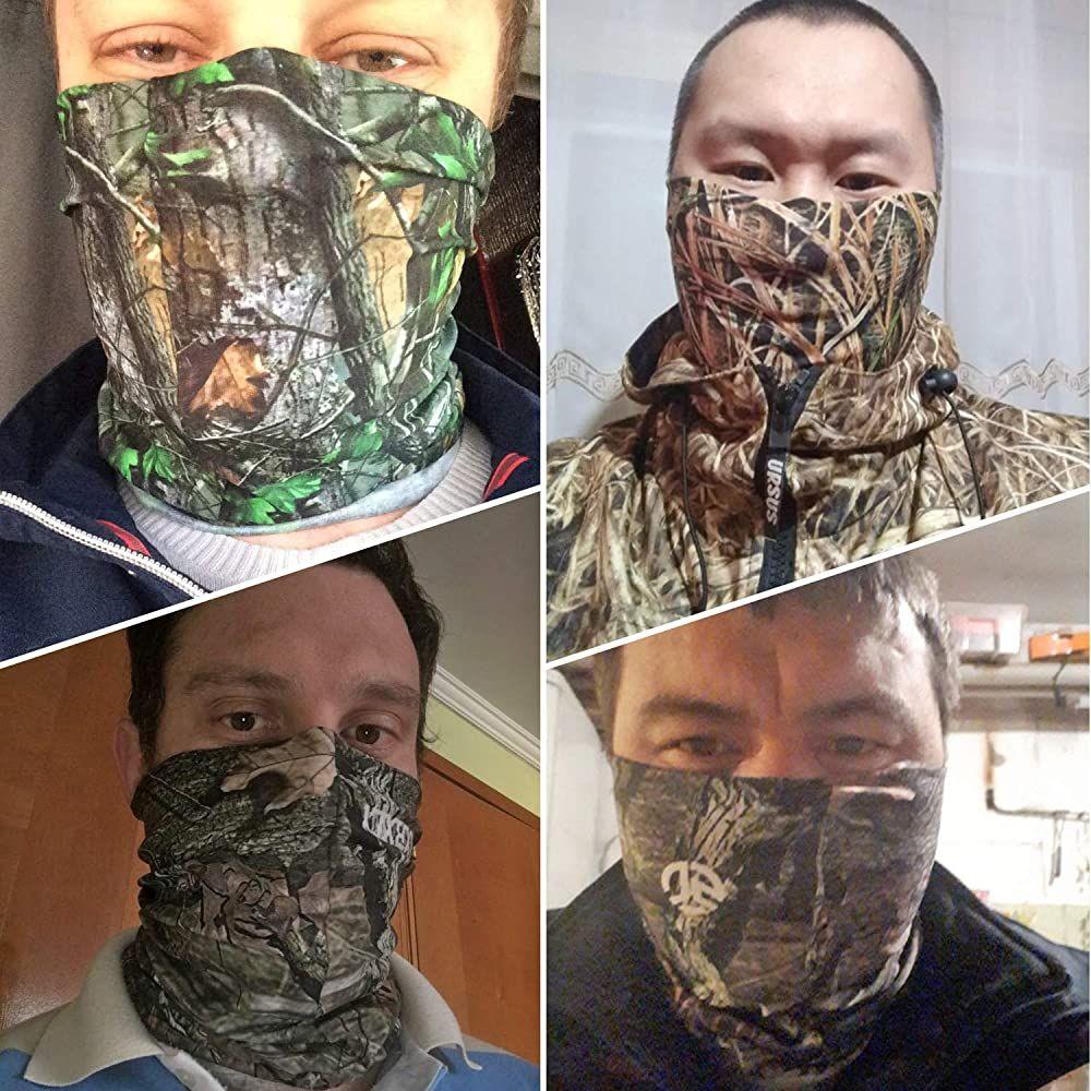 1-4PK Multifunctional Balaclava Bandana Face Mask Shield Protection Neck Gaiter