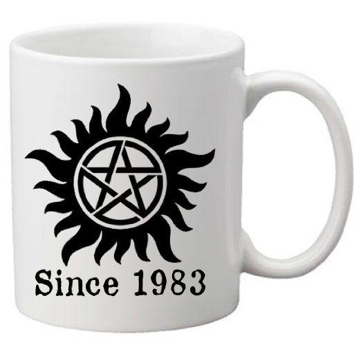 Amazon Supernatural Demon Protection Symbol 11 Oz Coffee Mug