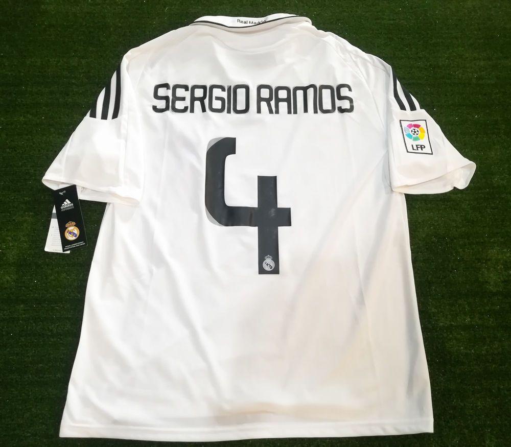 65d800d43 SERGIO RAMOS 4 Real Madrid 2008 09 Player Issue Trikot Camiseta Size XL   adidas  Jerseys