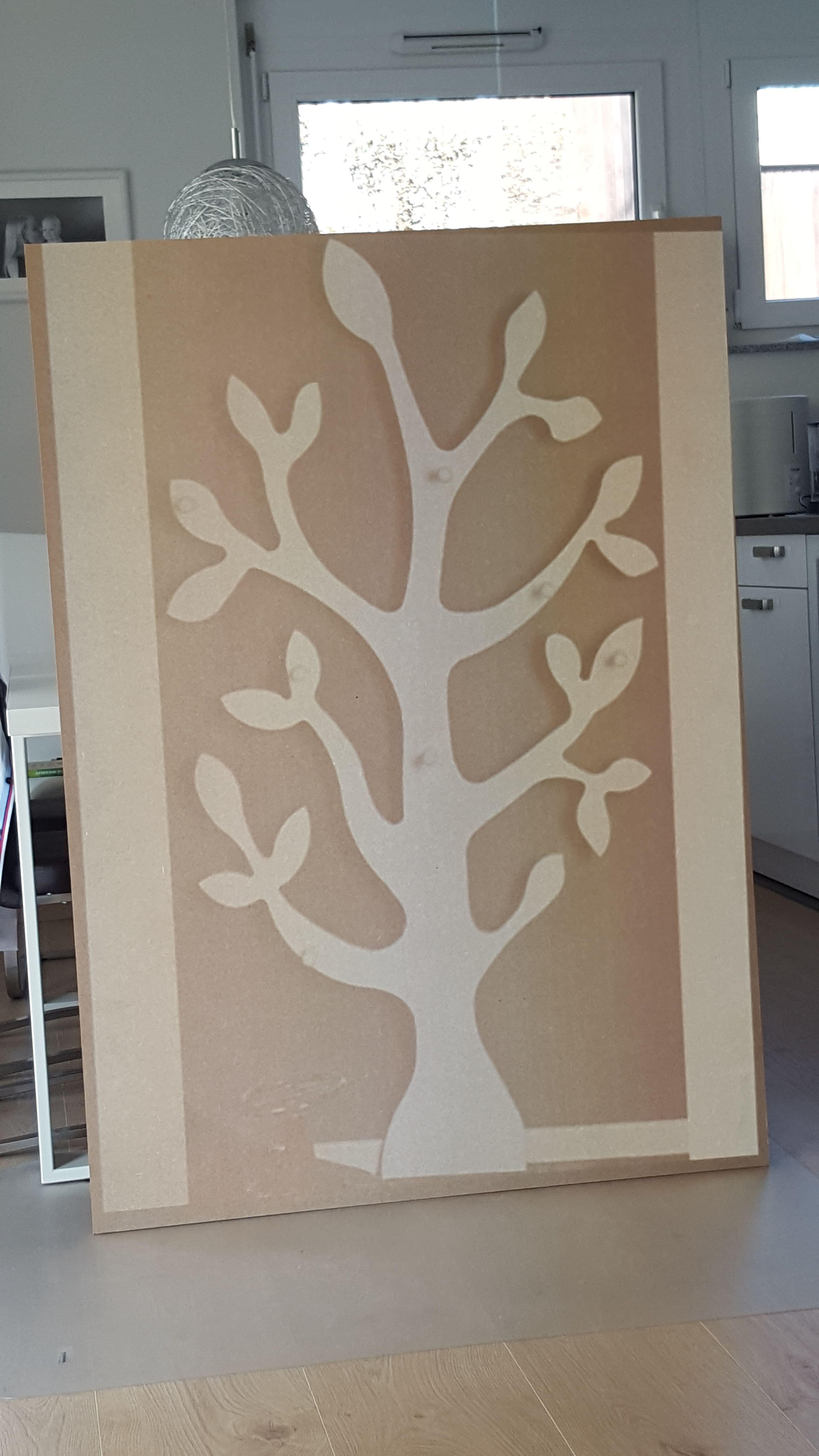 Kinder Garderobe Baum Vögel Weiß Anzeichnen