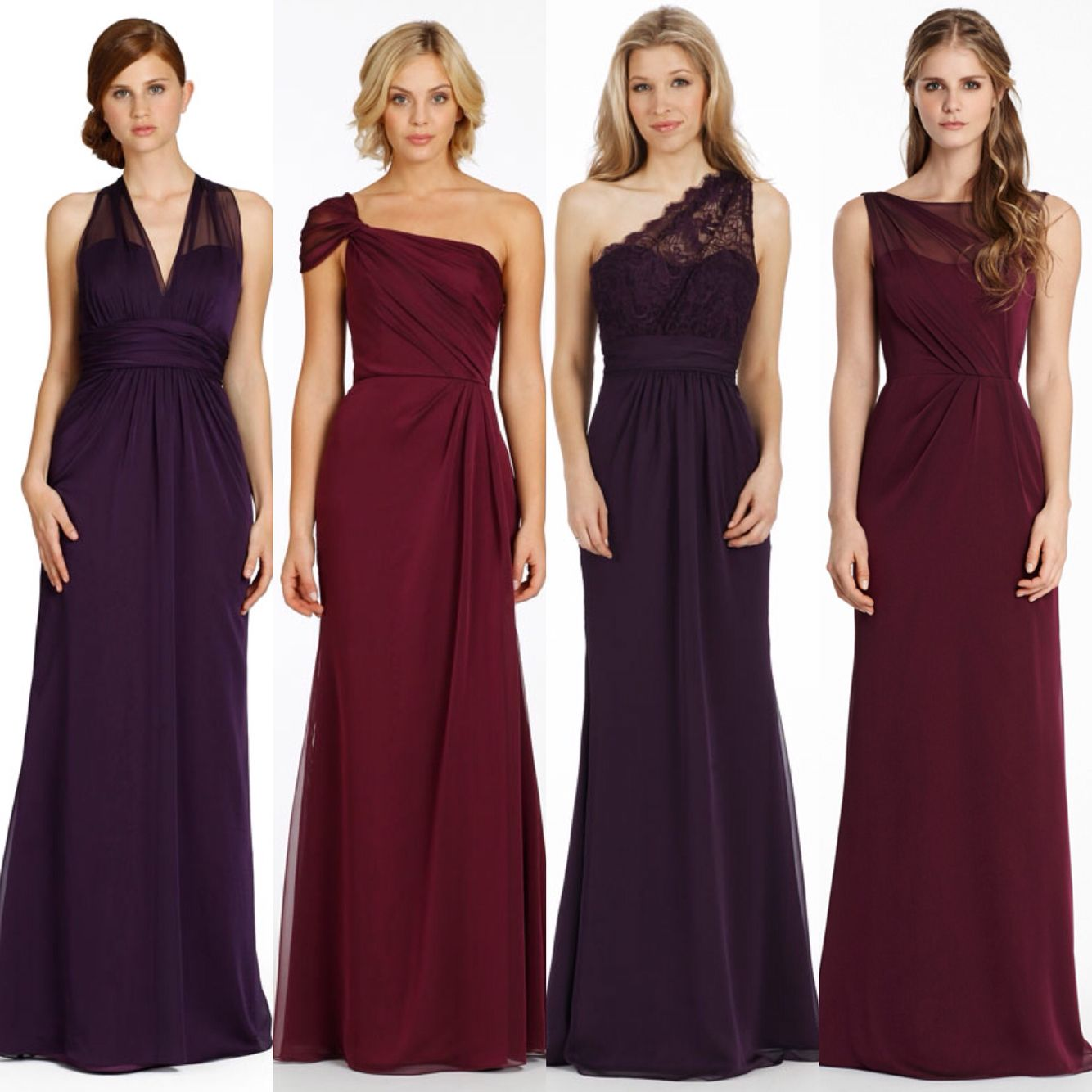 Aubergine Deep Red Purple Plum And Dark Cherry Colour Bridesmaid Dresses Available To Order At Daughterofeveboutique