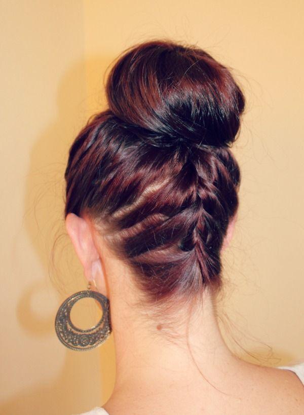 How To Ballerina Bun Hair Makeup Pinterest Hair Braids And