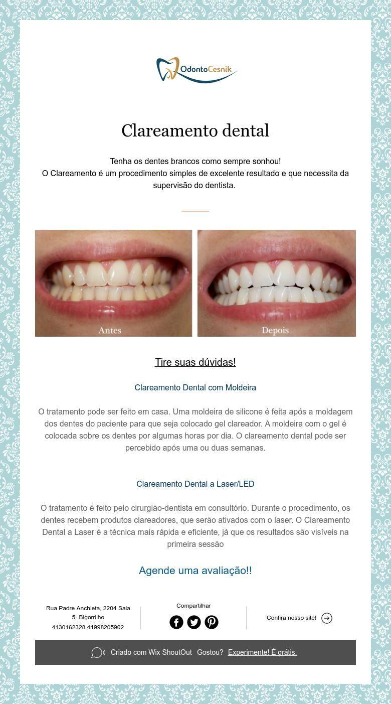 Clareamento Dental Dentist Pinterest Clareamento Dental Saude