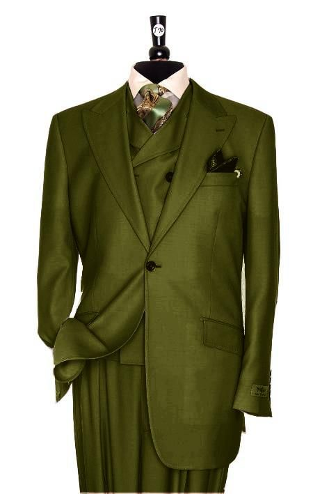 green men suits one bottom | SKU#RS2928 Exclusive 3 Piece Olive ...