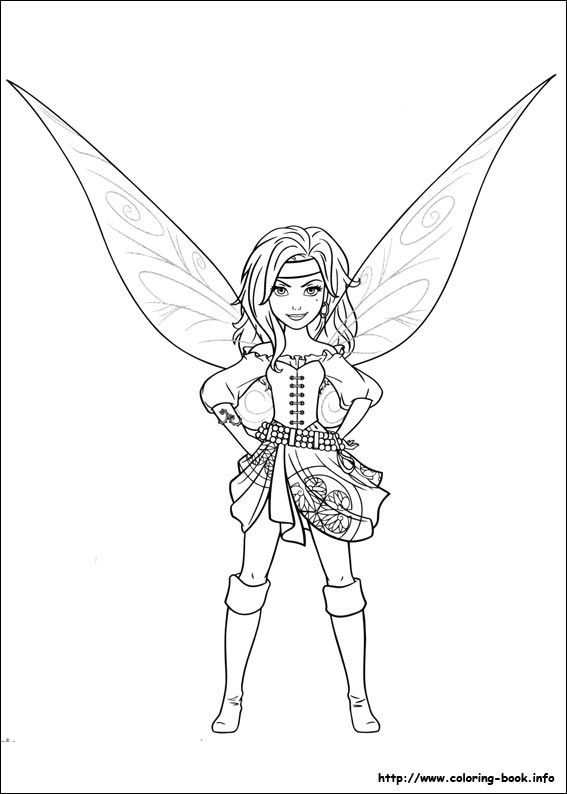 The Pirate Fairy coloring picture | Crayons not included ...