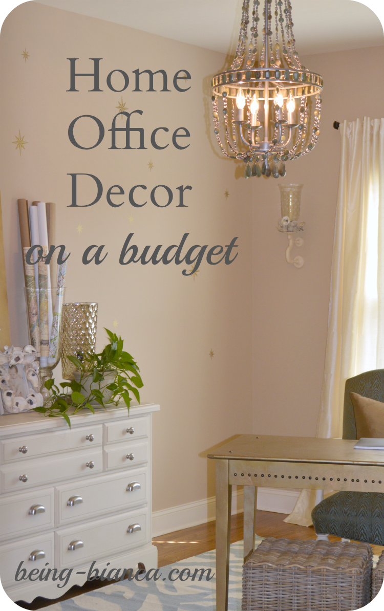 Home office decor on a budget great diy ideas for an for Decorating living room on a tight budget