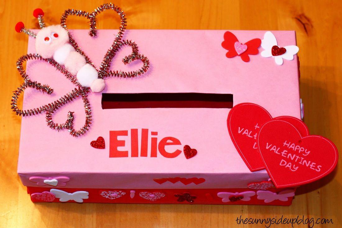 Boxes For Decoration And Crafts Valentine Kids Craft Mailboxdiy Fringe Valentine Mailbox Via
