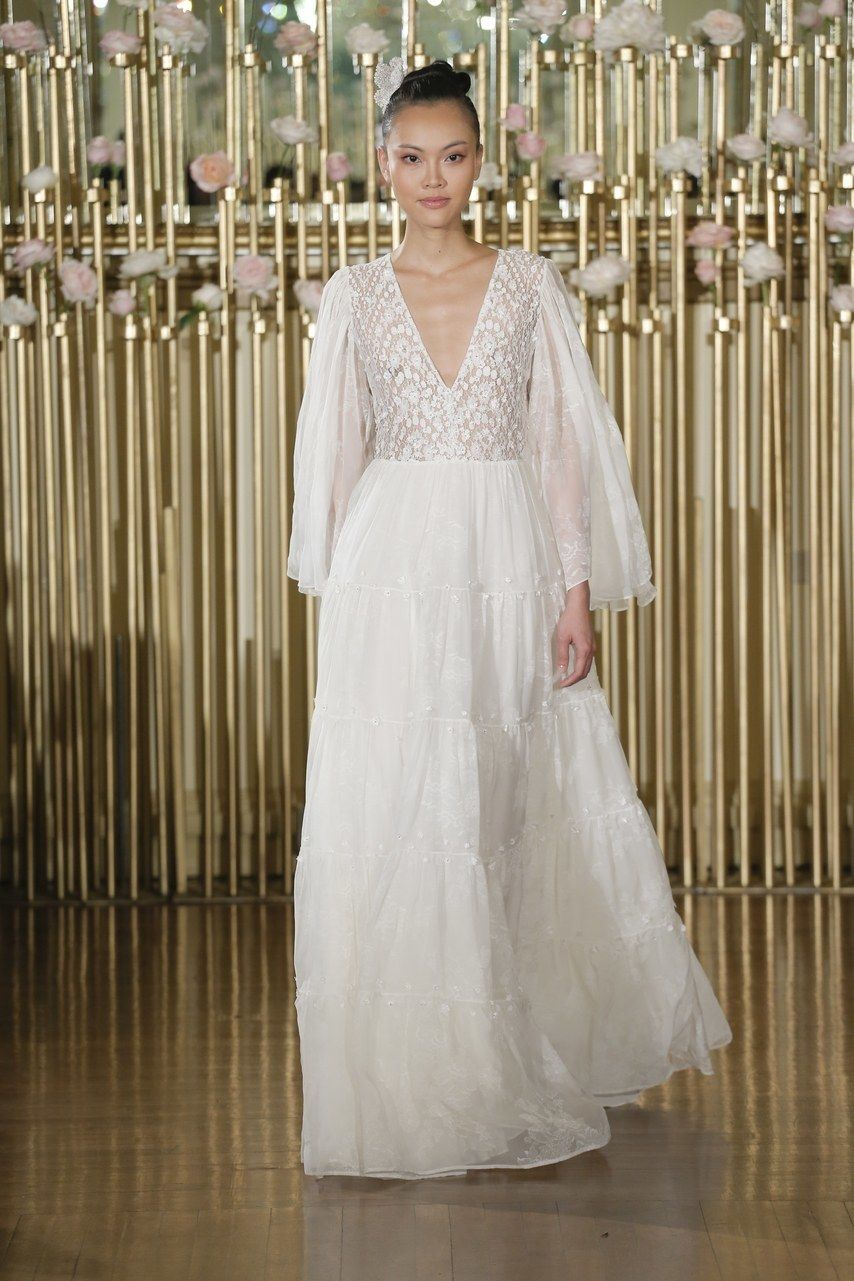 Wedding dresses with statement sleeves straight from the spring