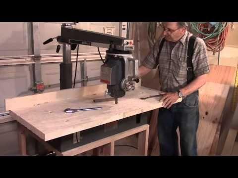 DeWalt 790 Radial Arm Saw: Table Install