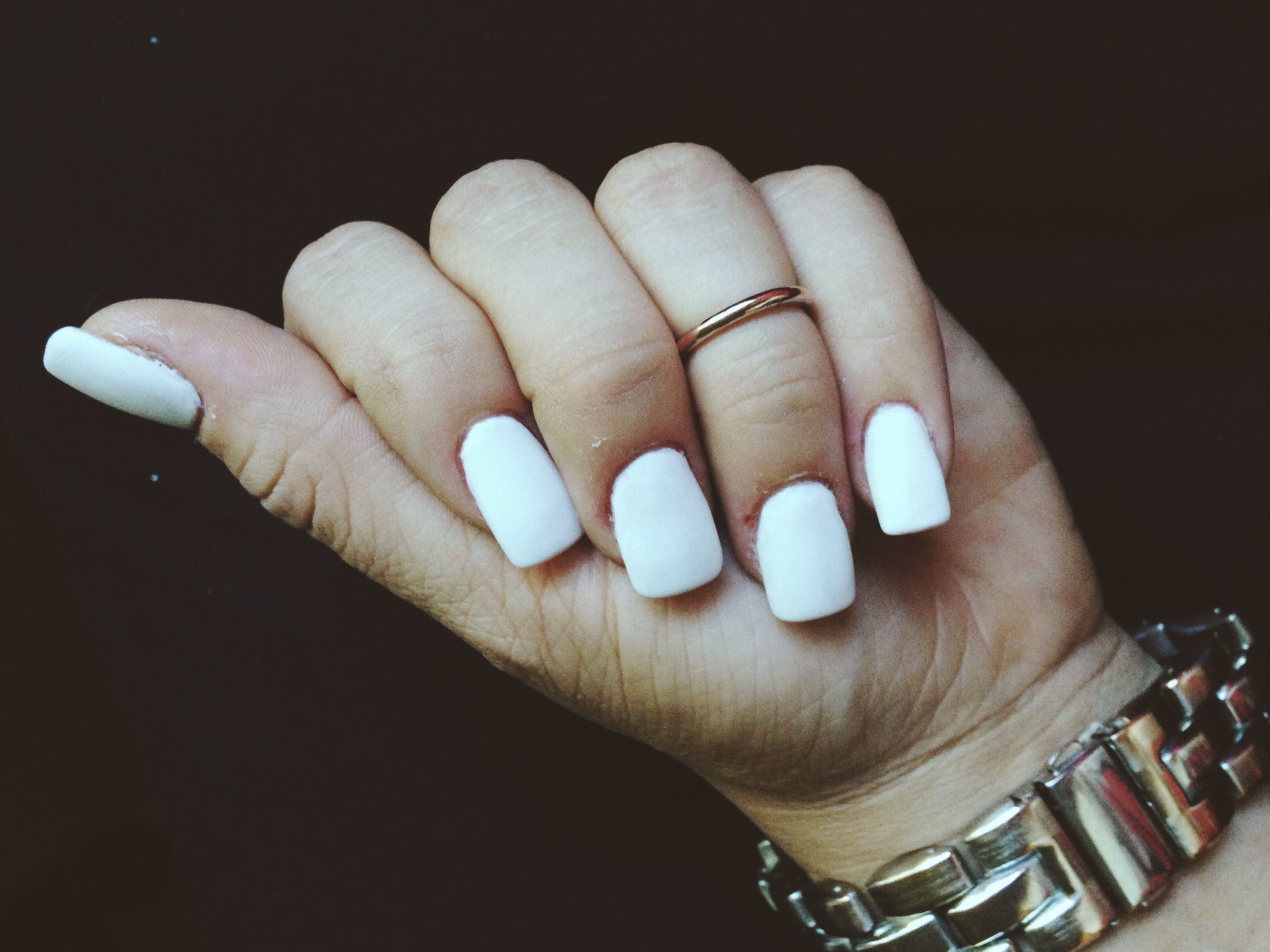 Matte white acrylic nails | | Nails | | Pinterest | White ...