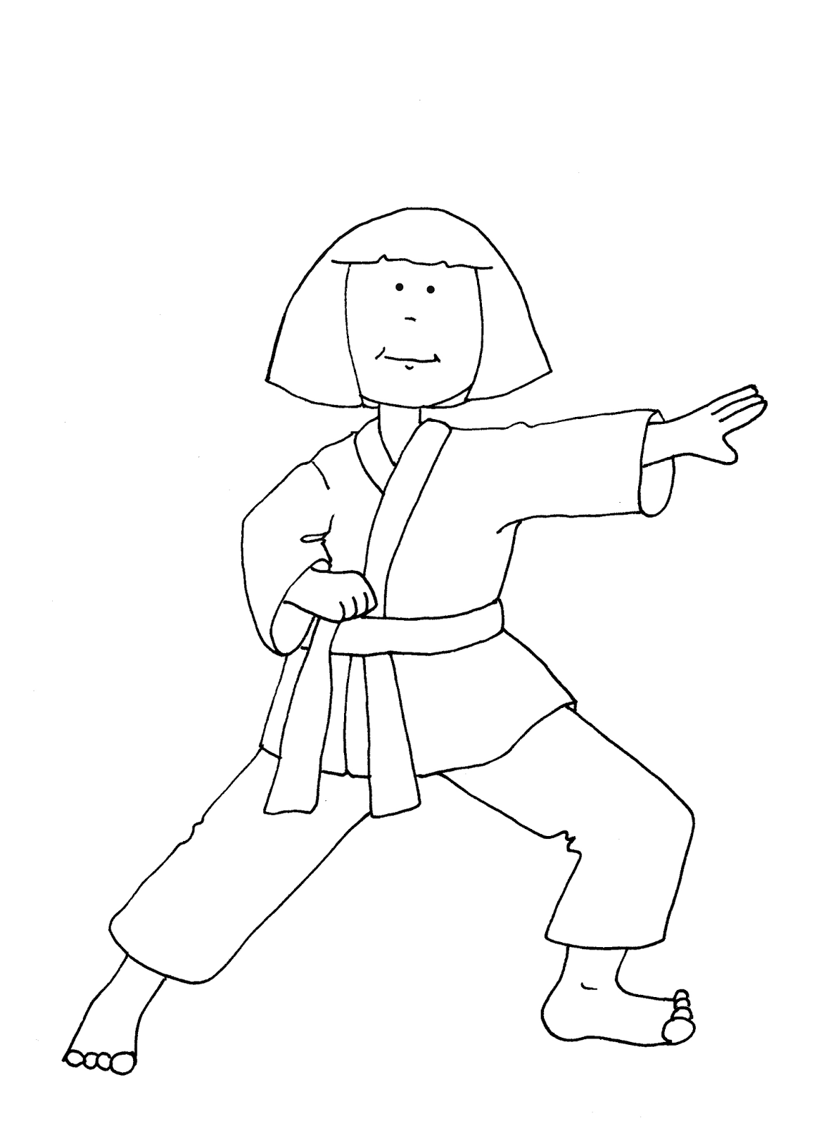free karate coloring pages - photo#31
