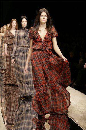 ... Plaid Dress - Celebrities who wear Dolce & Gabbana Red Plaid Dress