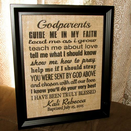 38 great godparent gift ideas for christening burlap signs 38 great godparent gift ideas for christening negle