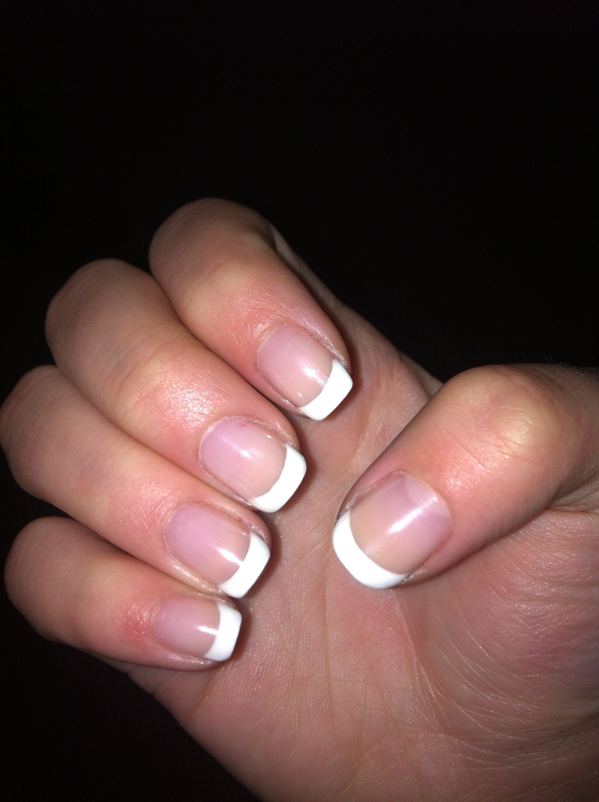 French Tip Shellac Nails :)