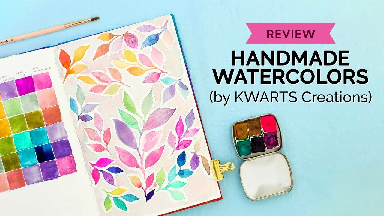 Are Handmade Watercolors Good Kwarts Creations Palette Review
