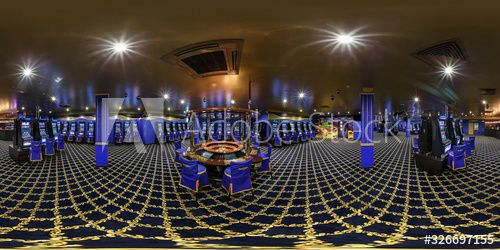 LAS VEGAS, USA - FEBRUARY 7, 2015: Inside of the interior of luxury casino in blue color. Full 360 degree panorama in equirectangular spherical projection , #Ad, #interior, #casino, #luxury, #VEGAS, #LAS #Ad
