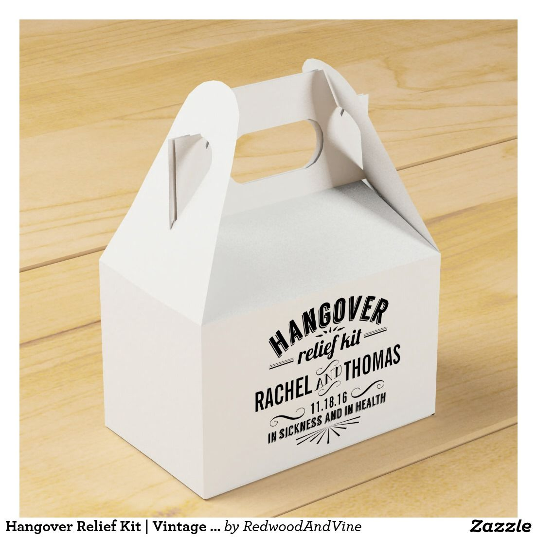 Hangover Relief Kit   Vintage Style Wedding Wedding Favour Boxes ...