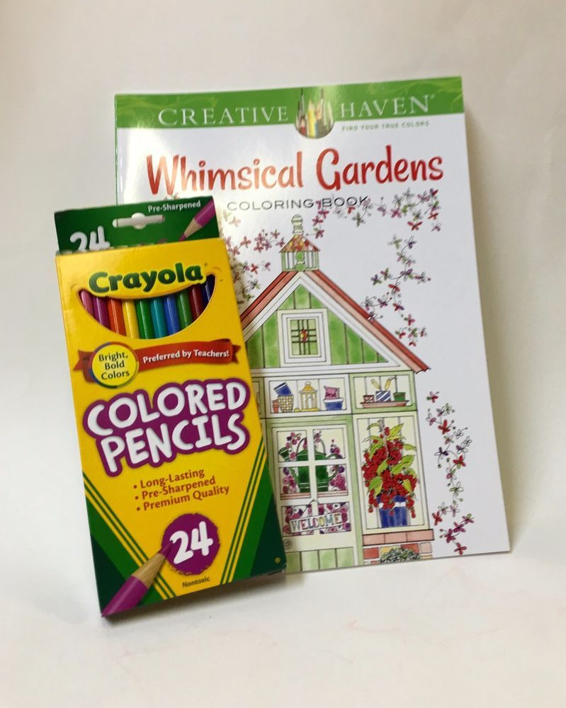Whimsical Garden W Pencils Adult And Teen Coloring Book
