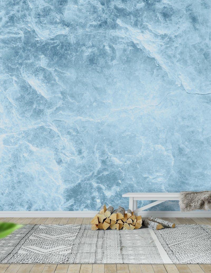 Enigmatic Light Blue Marble 1 Wall Mural Wall Murals Wallpaper