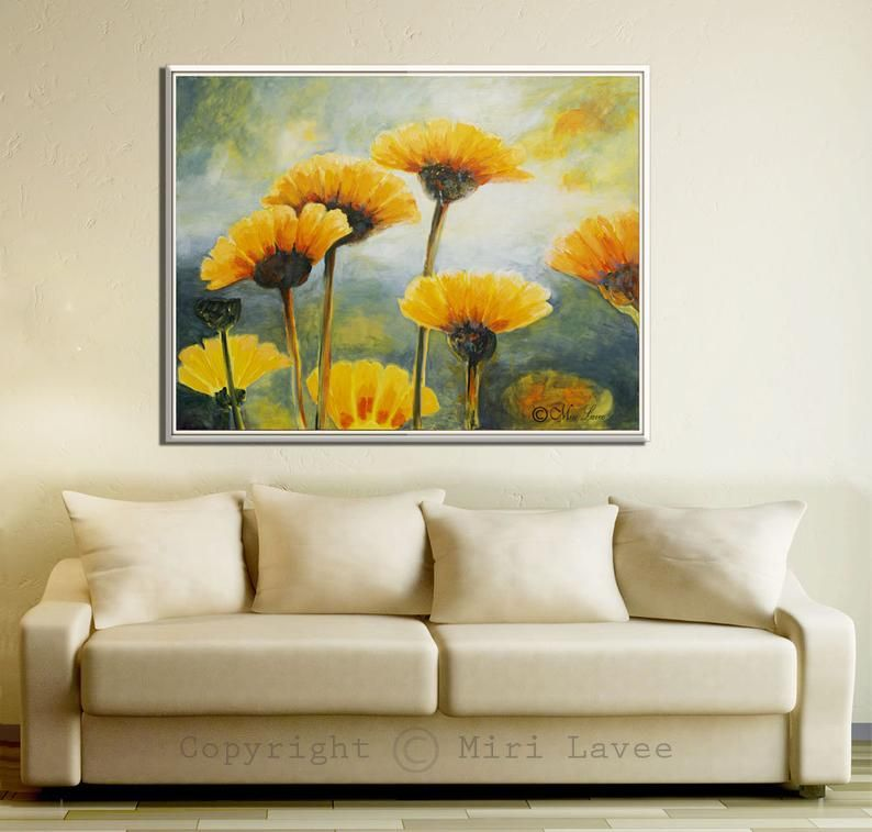 Flower Painting Paintings On Canvas Living Room Painting Flower
