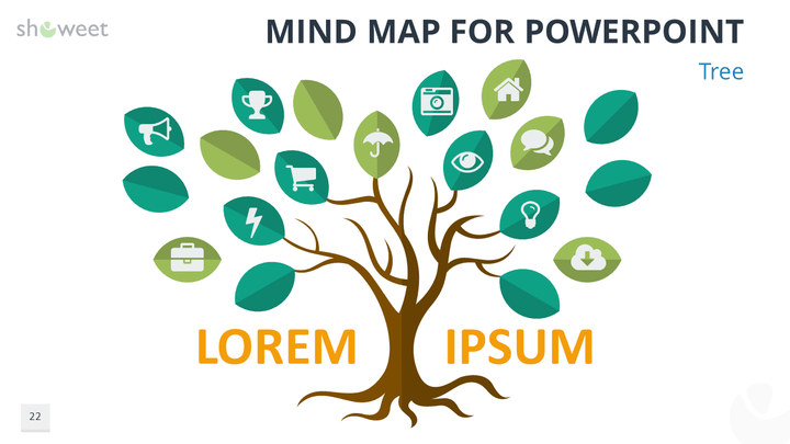Free Mind Map For Point Tree Template Diagram