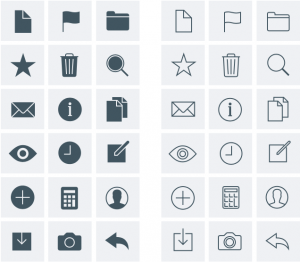Optimizing UI icons for faster recognition